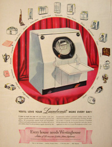 1947 Westinghouse Laundromat Washing Machine Ad